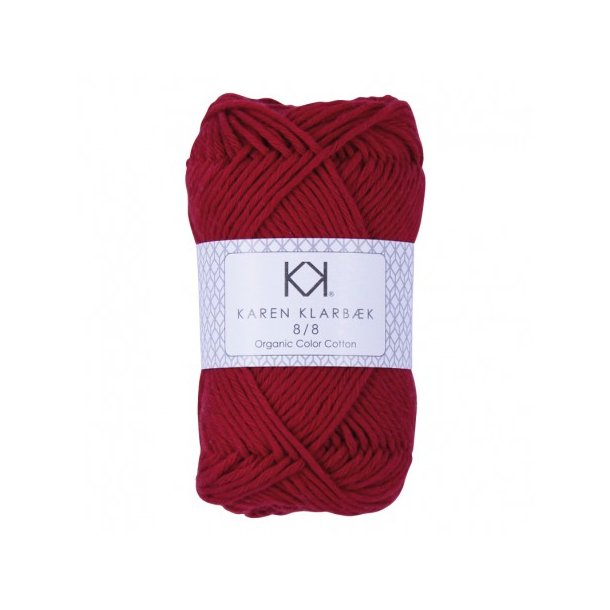 KAREN KLARBÆK Color Cotton 8/8 24 Dark Christmas red
