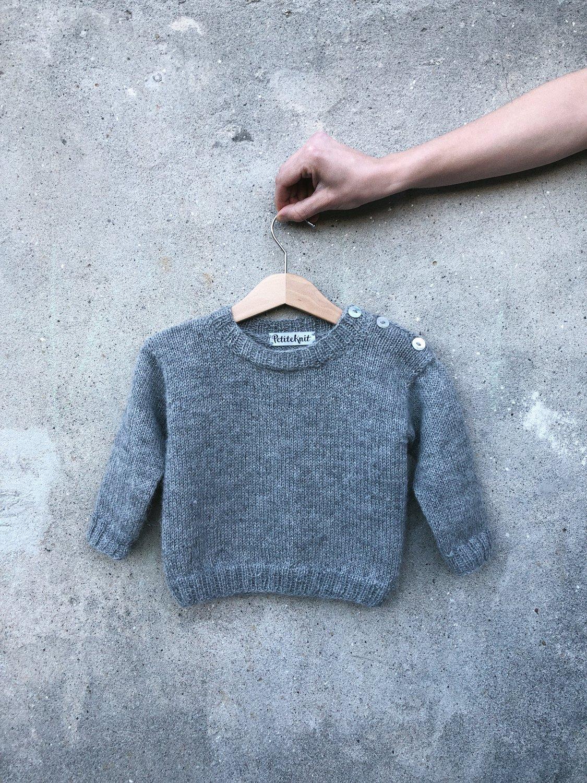 Wilfreds trøje PETITE KNIT strikkeopskrift BABY BARN